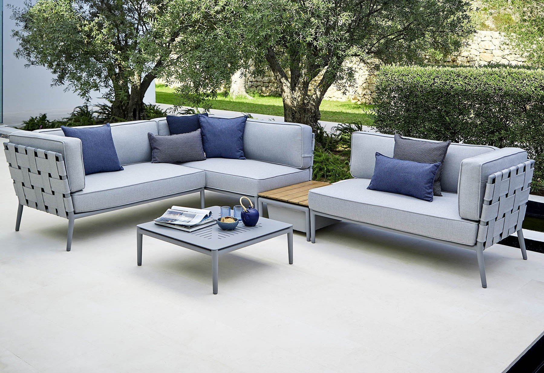 Conic 2-Seater Sofa from Cane-line, designed by Foersom & Hiort-Lorenzen MDD