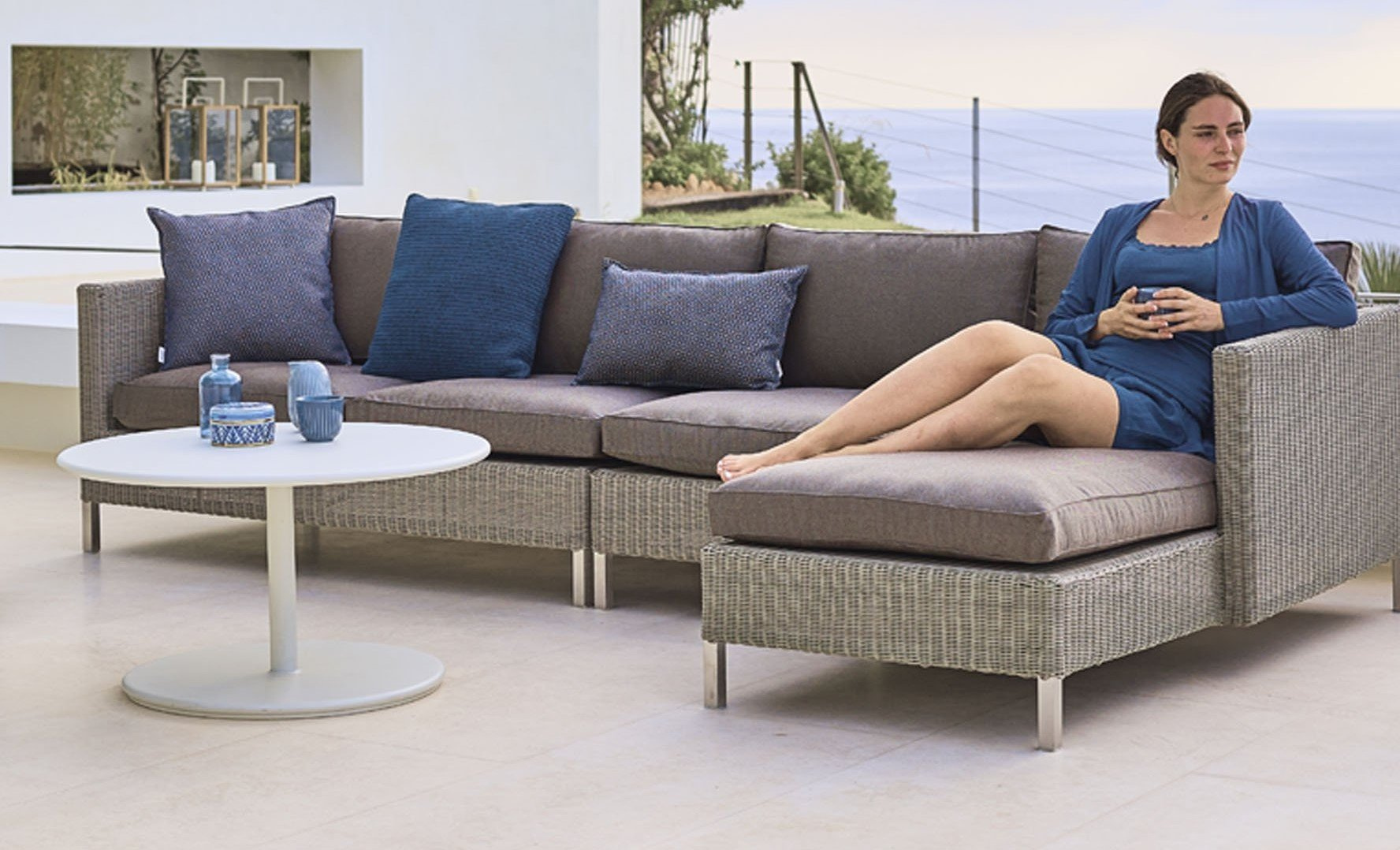 Connect Single Seat Module Sofa modular from Cane-line