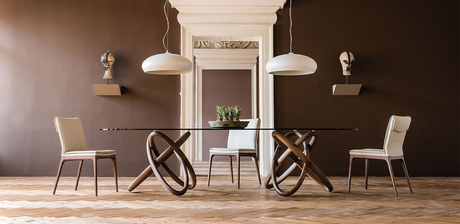 Carioca Elliptical Dining Table from Cattelan Italia, designed by Andrea Lucatello
