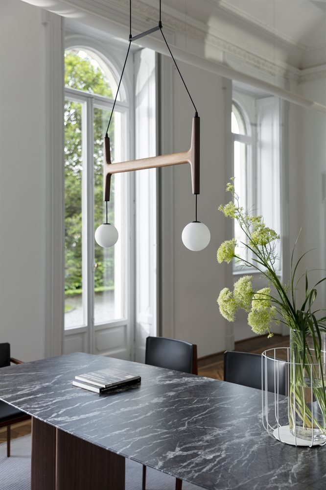 Astra Suspension Lamp lighting from Porada, designed by D. Dolcini