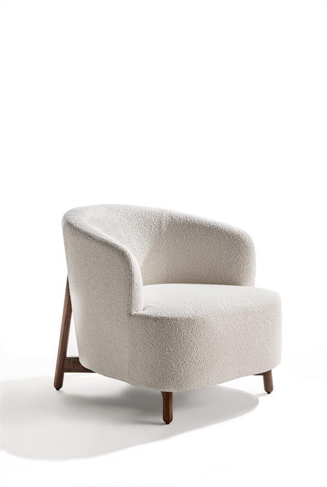 Copine Wood Armchair  lounge from Porada, designed by G. & O. Buratti