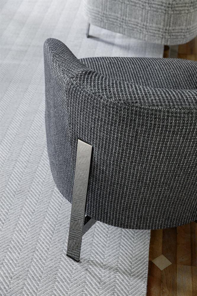 Copine Steel Armchair lounge from Porada, designed by G. & O. Buratti