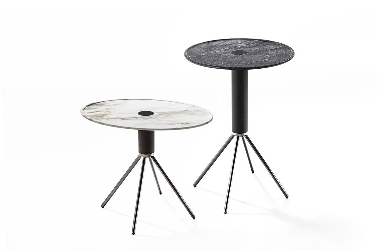 Jelly Marmo Side Table end from Porada, designed by C. Ballabio