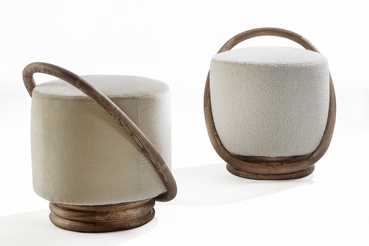 Smile Pouf from Porada, designed by M. Marconato and T. Zappa