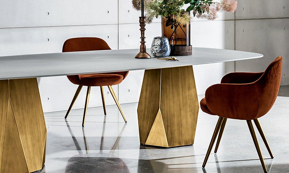 Deod Two Base dining table from Sovet, designed by Gianluigi Landoni