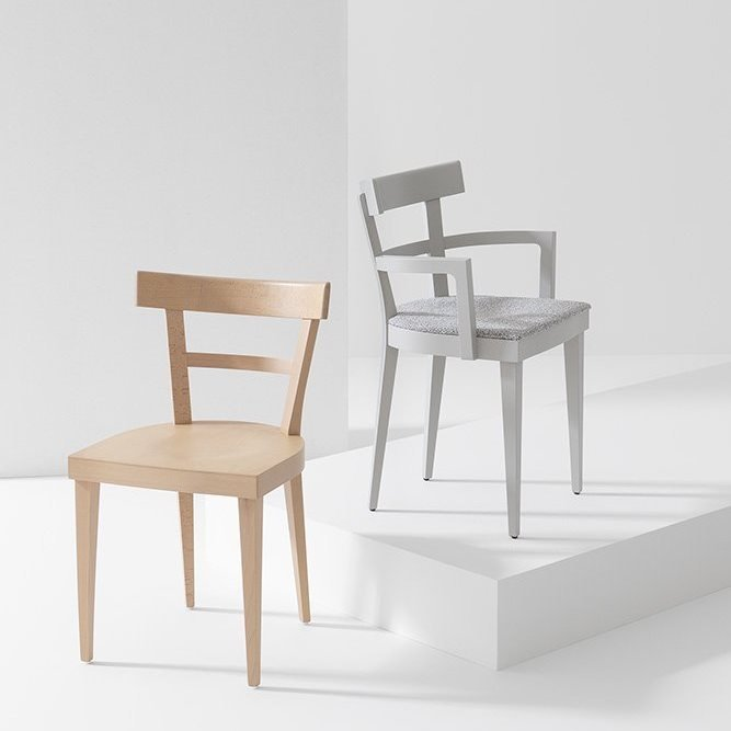Cafe Dining Chair from Billiani, designed by Werther Toffoloni