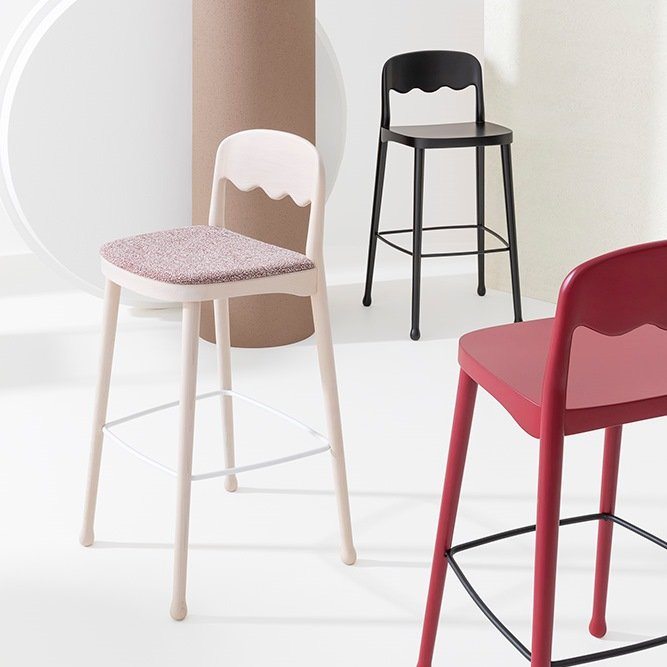 Frisee Stool from Billiani
