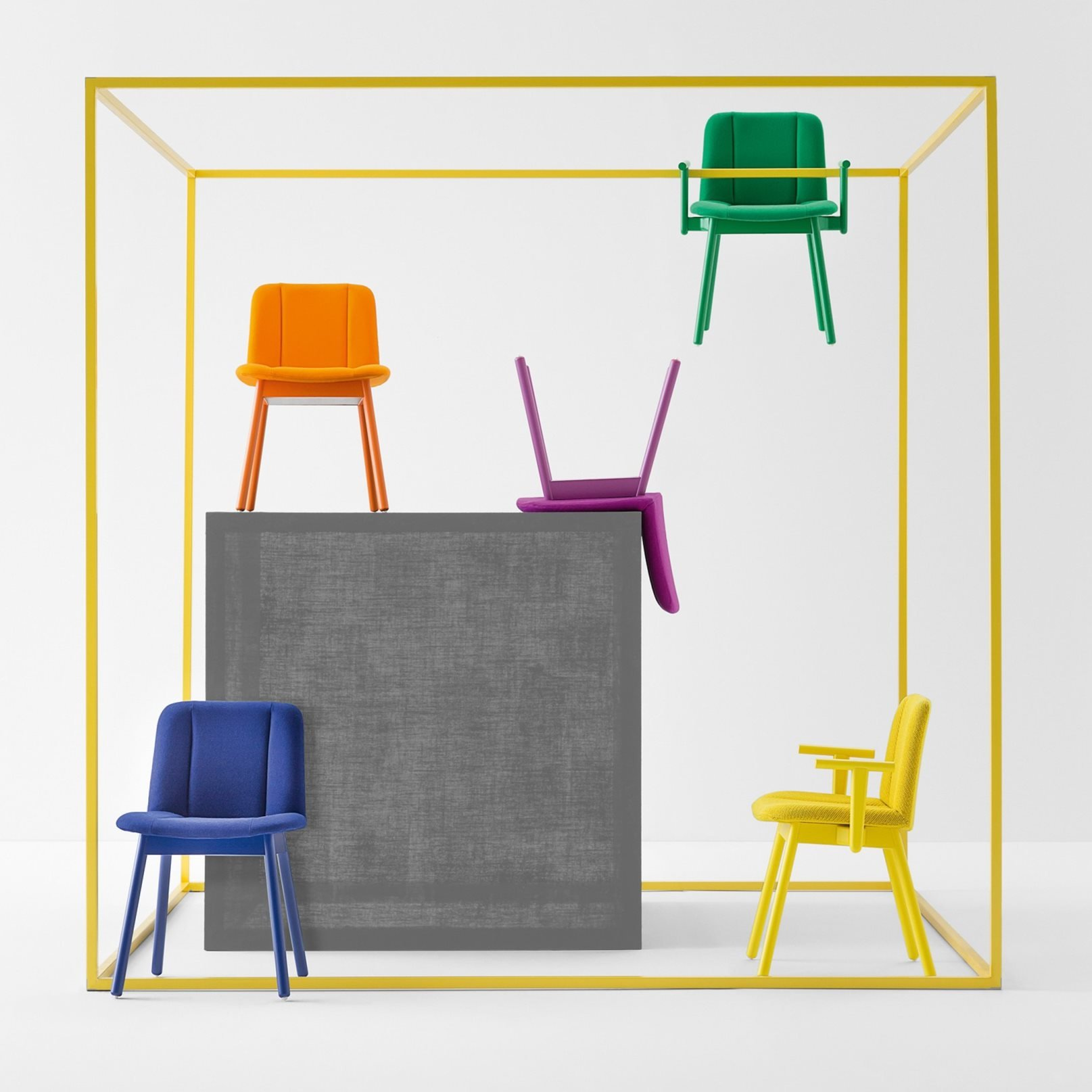 Hippy Dining Chair from Billiani, designed by Emilio Nanni