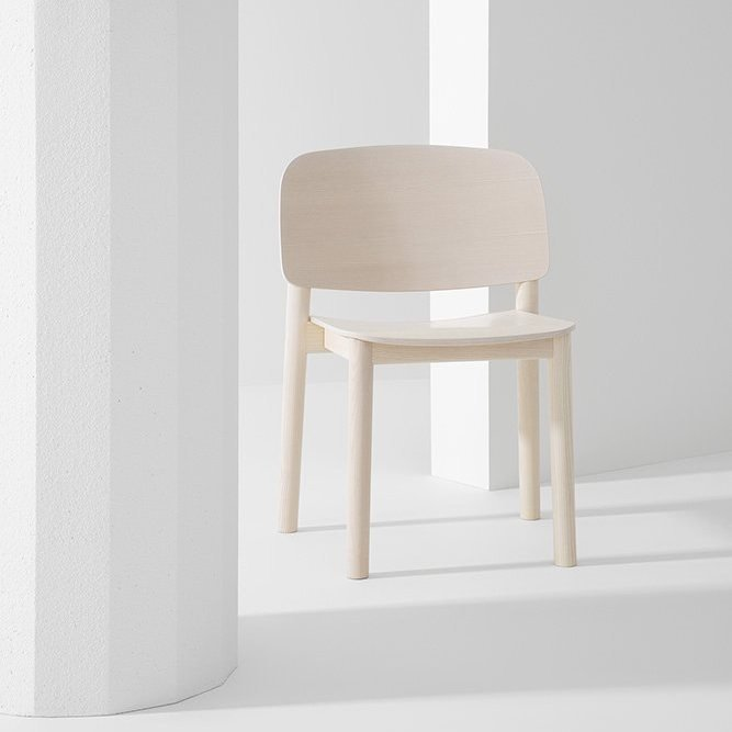 White Dining Chair from Billiani, designed by Harri Koskinen