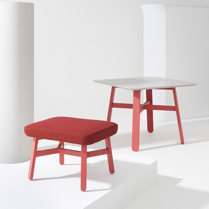 Croissant Tables coffee from Billiani, designed by Emilio Nanni