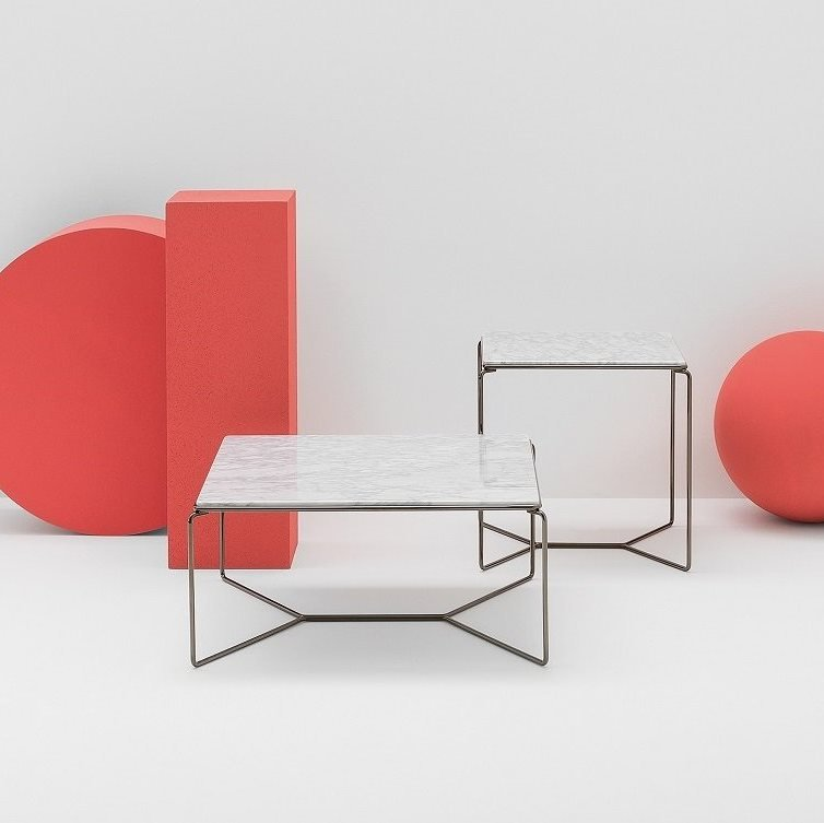 Marcel Coffee Table end from Billiani, designed by Kazuhide Takahama