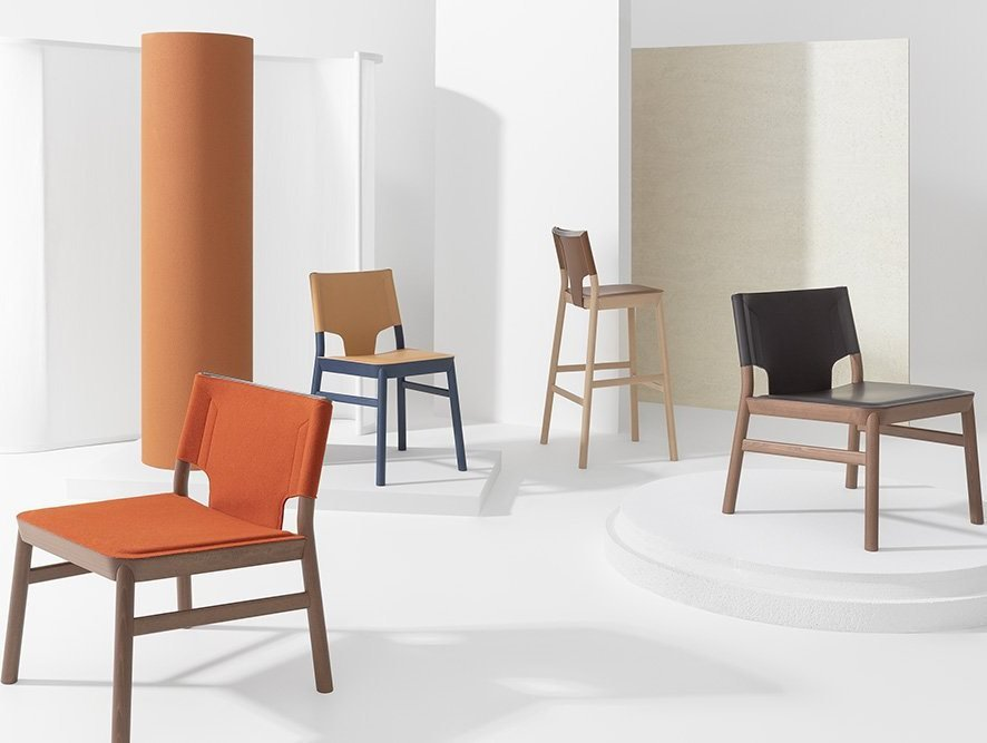 Marimba Lounge Chair from Billiani, designed by Emilio Nanni