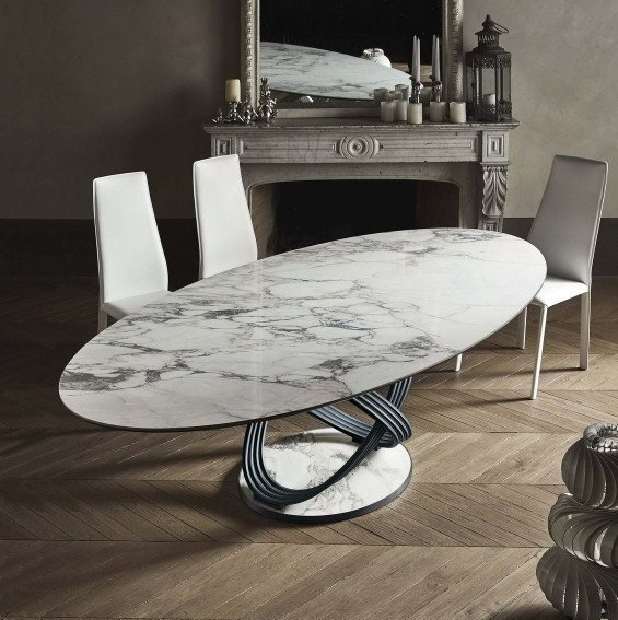 Fusion dining table from Bontempi, designed by Dondoli and Pocci