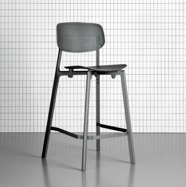 Colander Stool from Kristalia, designed by Patrick Norguet