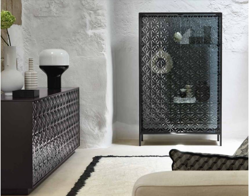 Echo Showcase cabinet from Fiam, designed by Marcel Wanders
