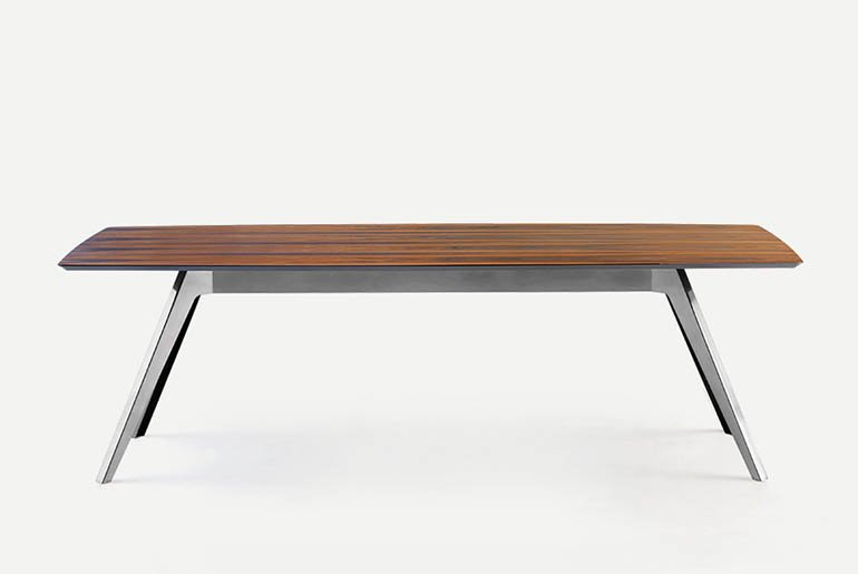Delta Table dining from Pianca, designed by Pianca Studio