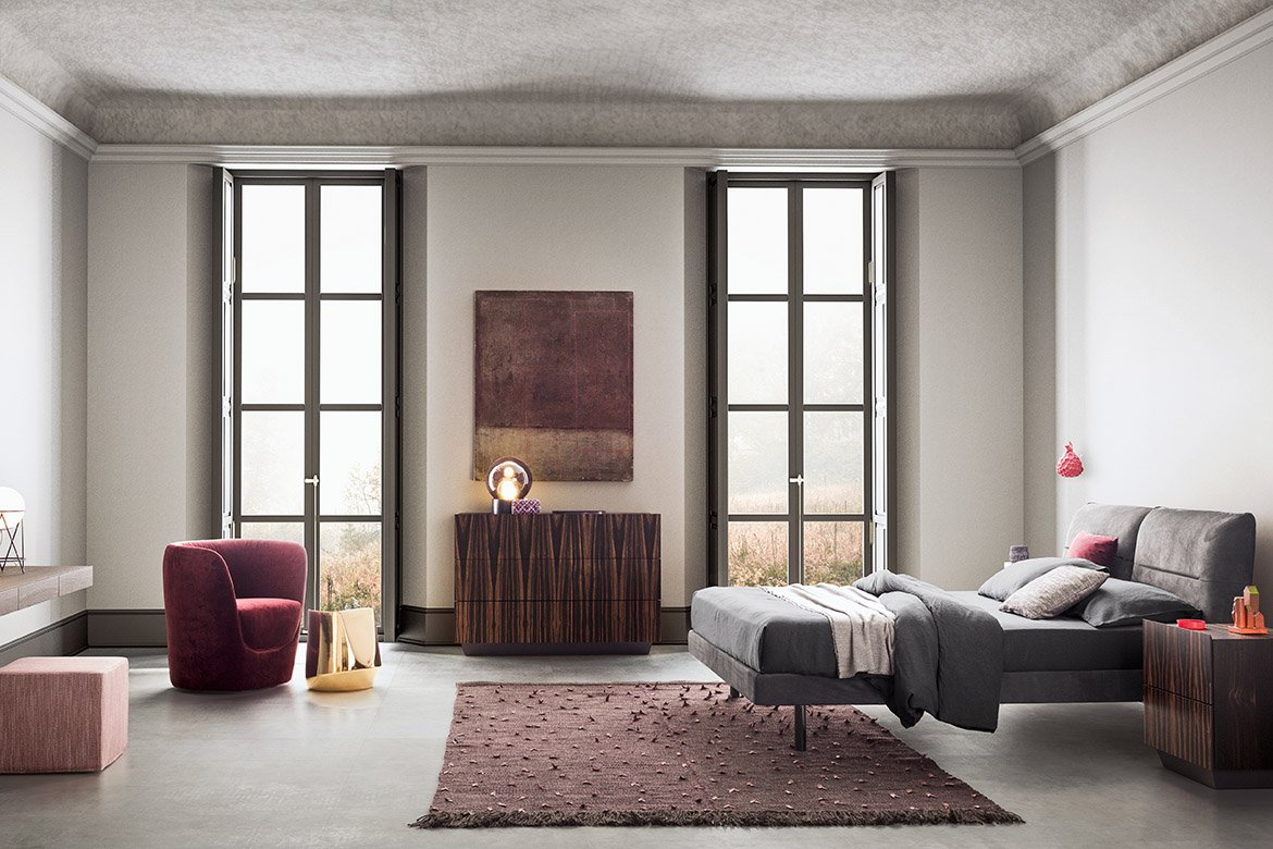 Vintage Bed from Pianca, designed by Pianca Studio