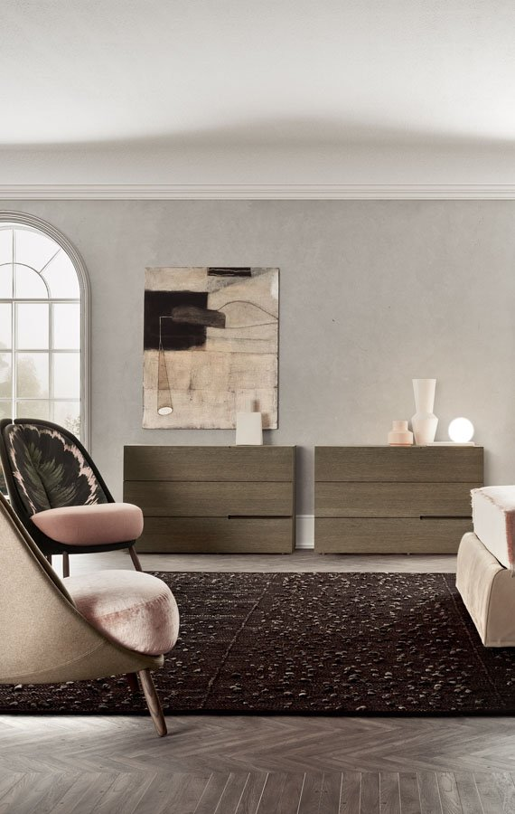 Segno Bedside Drawer end table from Pianca, designed by Pianca Studio