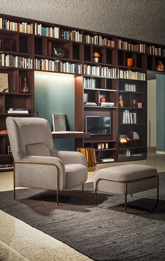 Platea Armchair lounge from Pianca, designed by Emilio Nanni