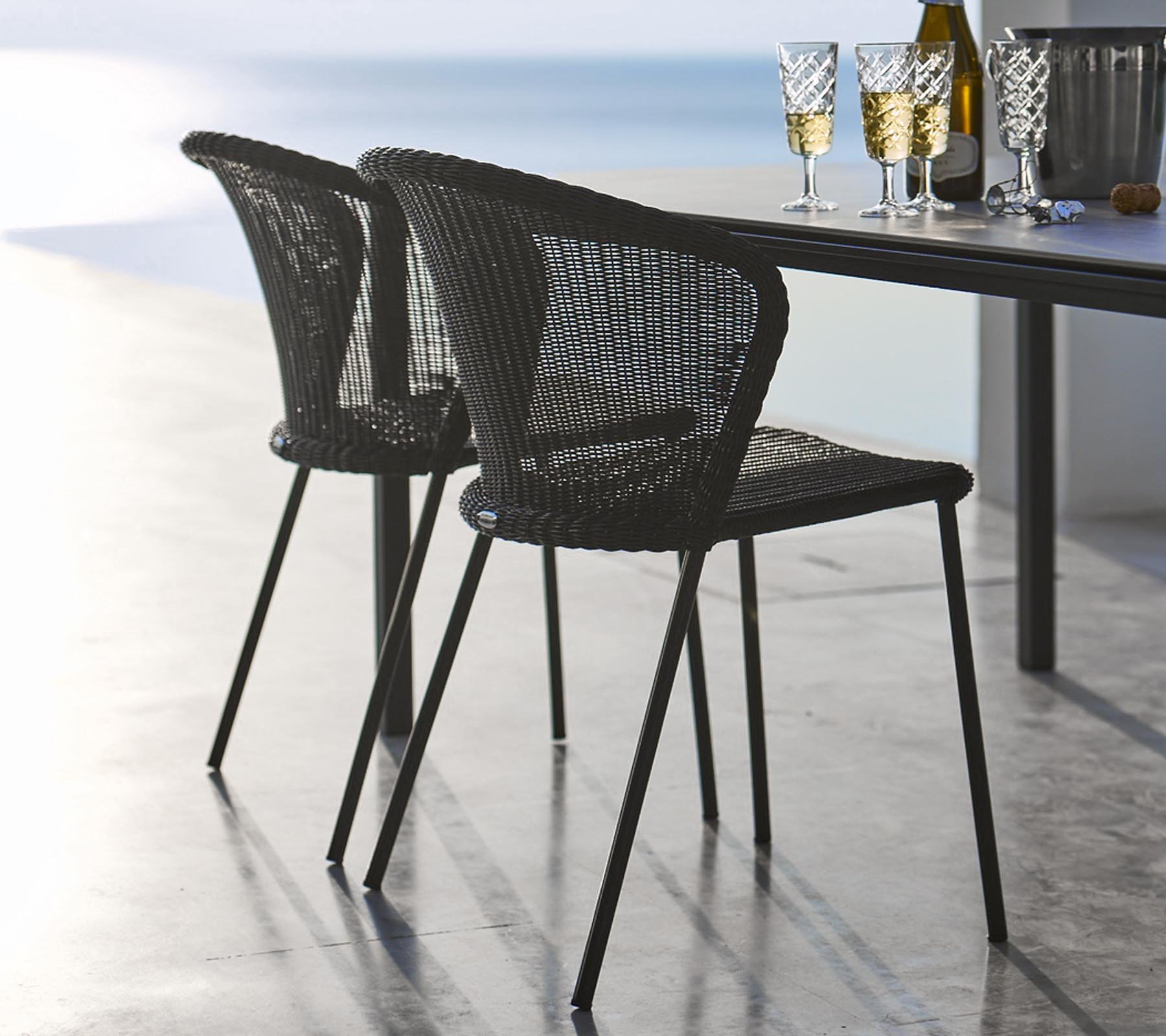 Lean Chair from Cane-line, designed by Welling/Ludvik