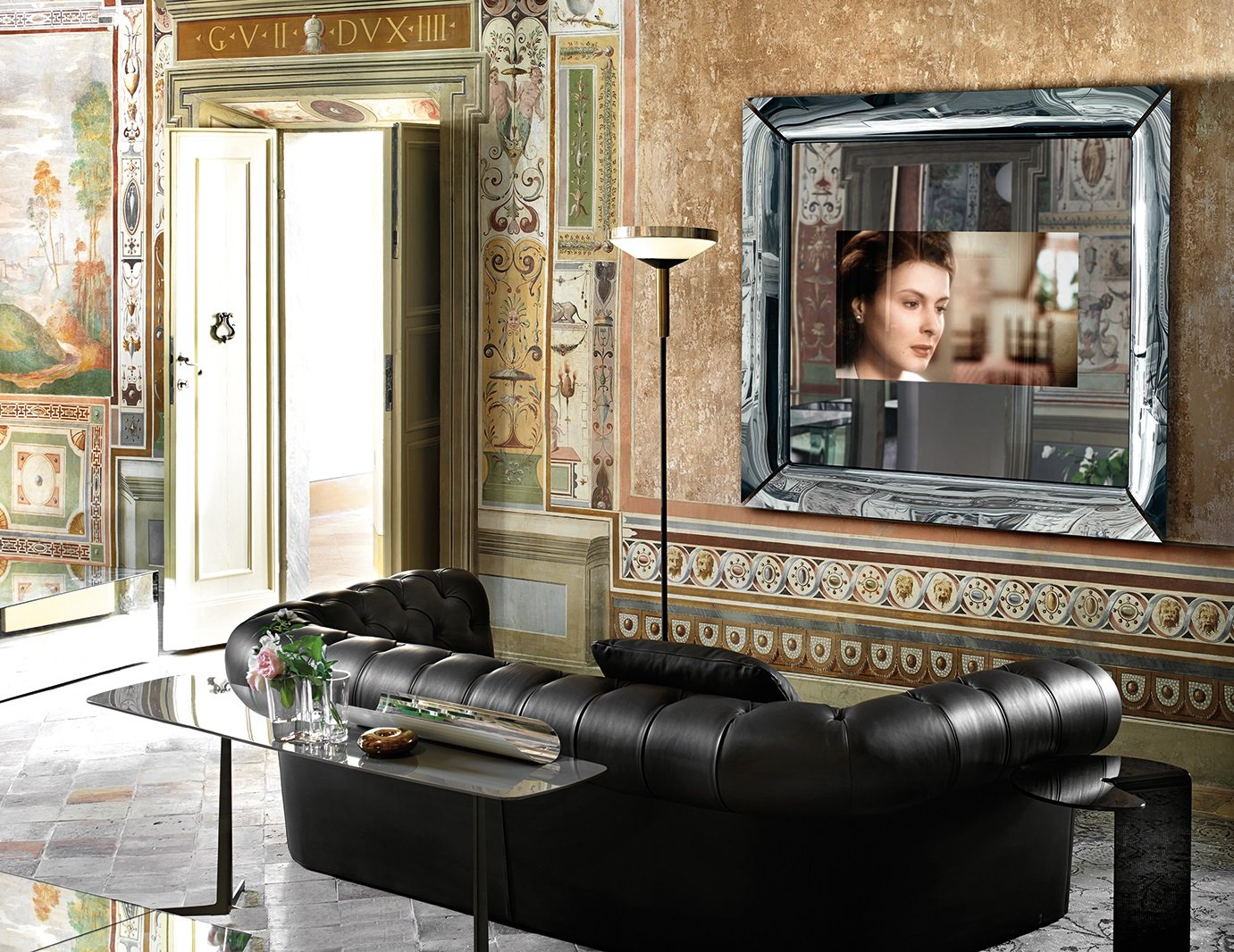 Caadre TV unit from Fiam, designed by Philippe Starck