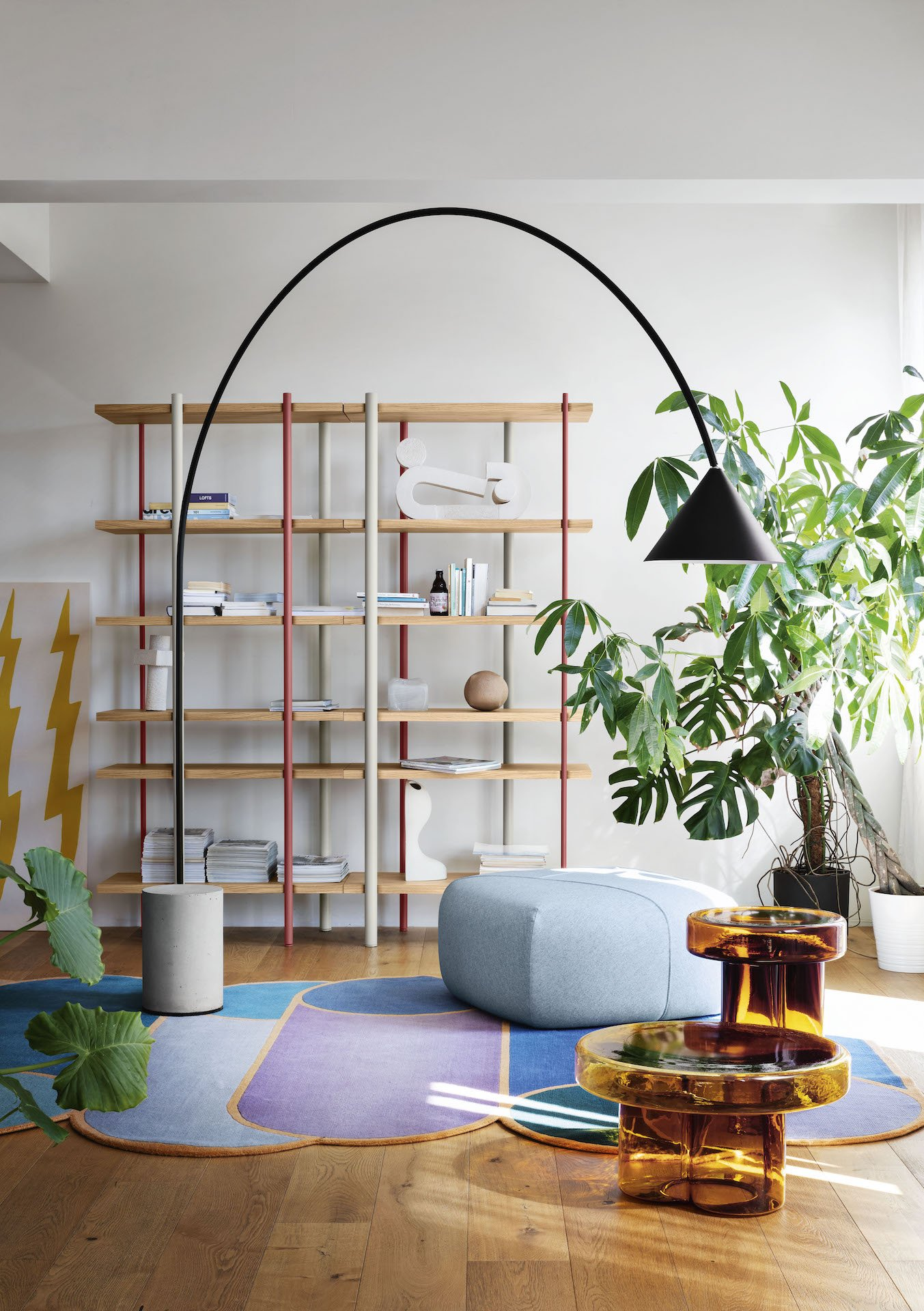 Ozz Arc Floor Lamp lighting from Miniforms, designed by Simone Sabatti