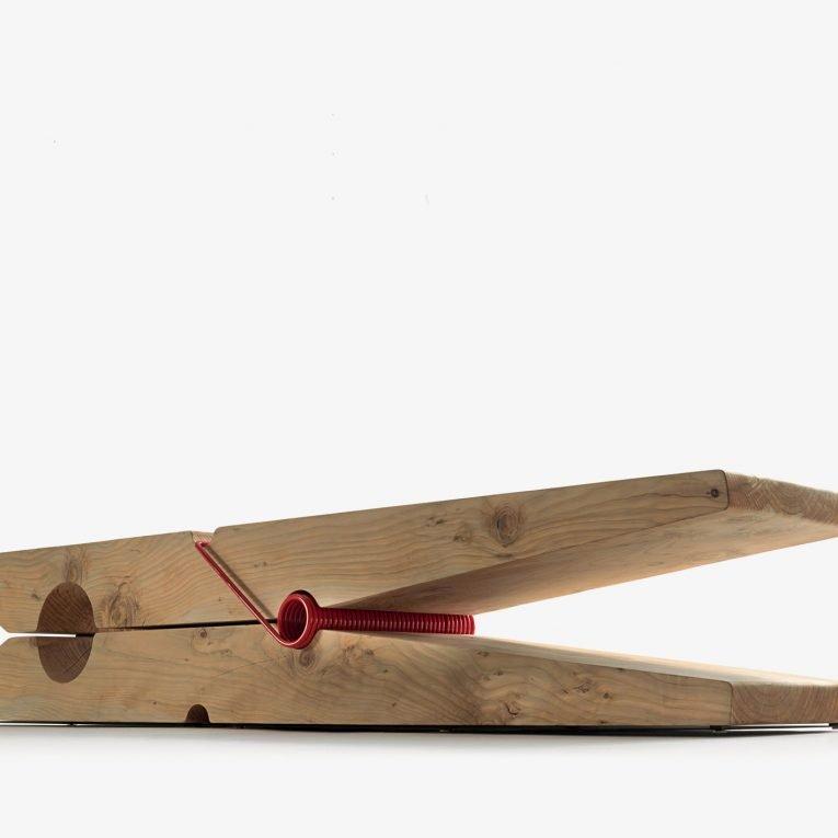 Molletta Bench from Riva 1920, designed by Baldessari&Baldessari