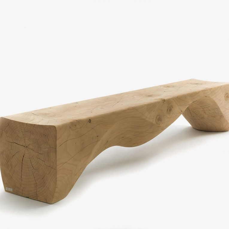Mountains Bench from Riva 1920, designed by Hsiao-Ching Wang