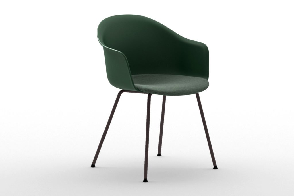Mani Armshell 4L/ns Armchair from Arrmet, designed by Welling/Ludvik