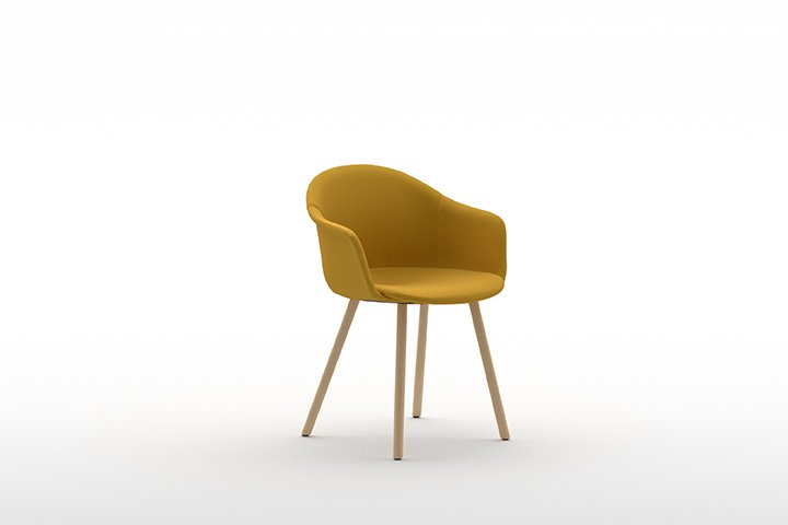 Mani Armshell 4WL Armchair from Arrmet, designed by Welling/Ludvik