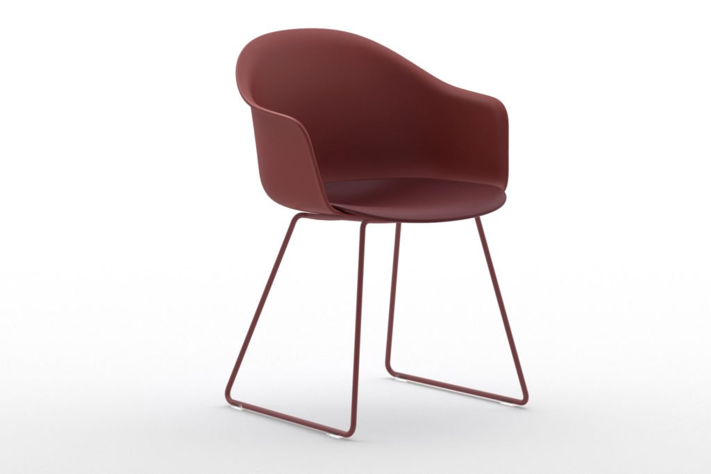 Mani Armshell Sled Armchair from Arrmet, designed by Welling/Ludvik