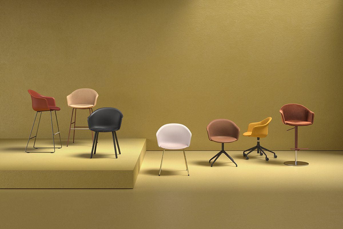 Mani Armshell ST-4WL Stool from Arrmet, designed by Welling/Ludvik