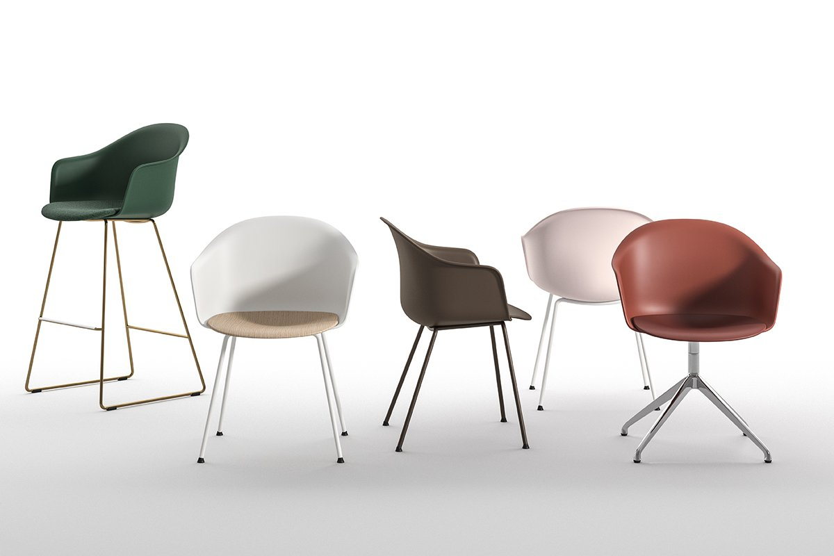 Mani Armshell ST-SL/ns Sled Stool from Arrmet, designed by Welling/Ludvik