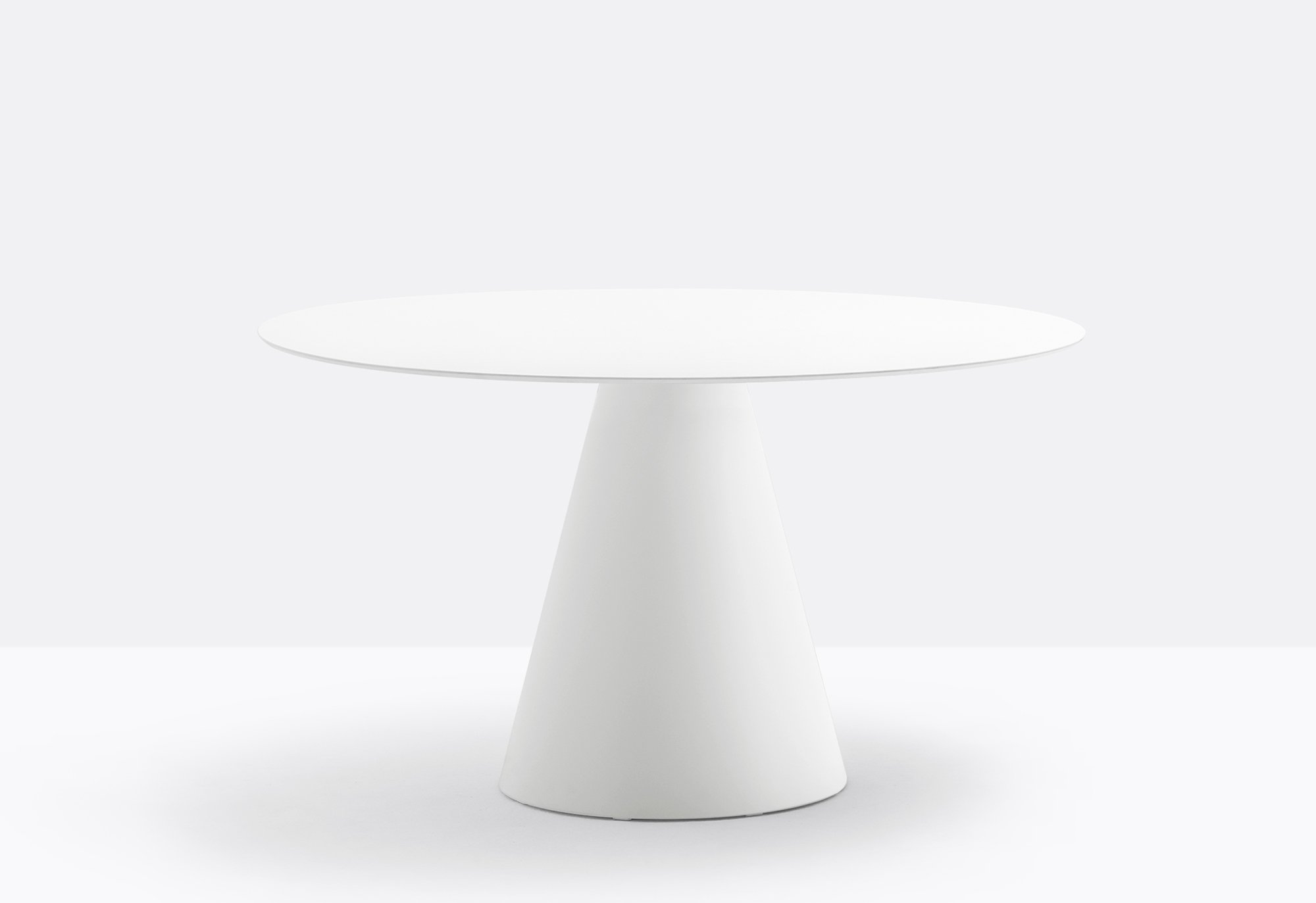 Ikon Round Table dining from Pedrali, designed by Pio and Tito Toso