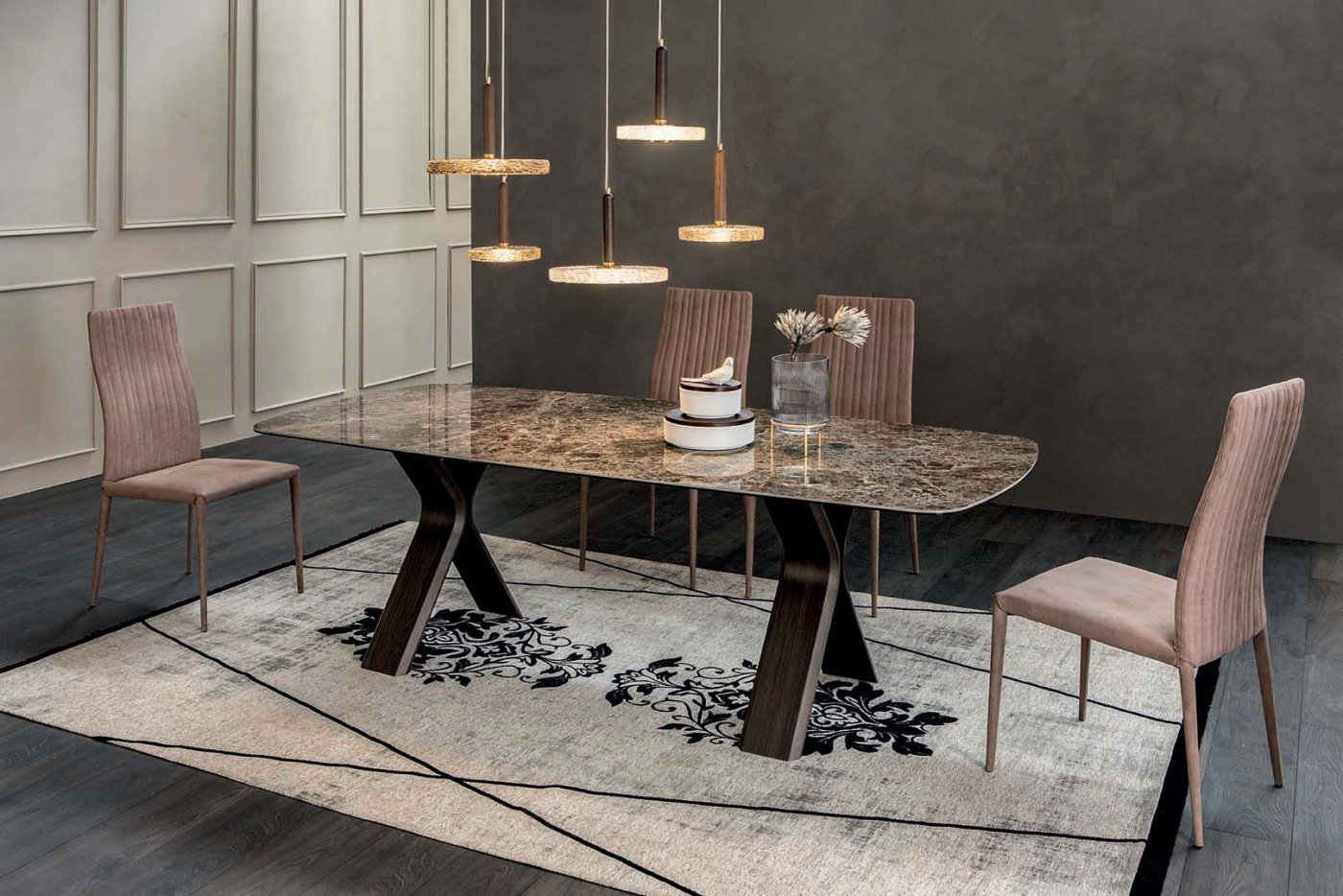 Still Extendible Table dining from Tonin Casa, designed by Angelo Tomaiuolo