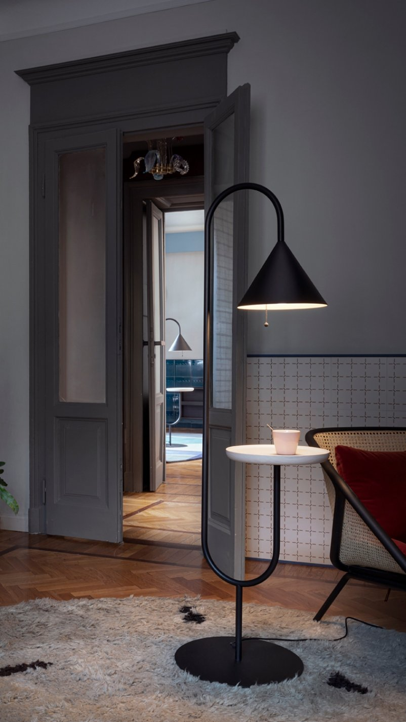 Ozz Floor Lamp lighting from Miniforms, designed by Simone Sabatti