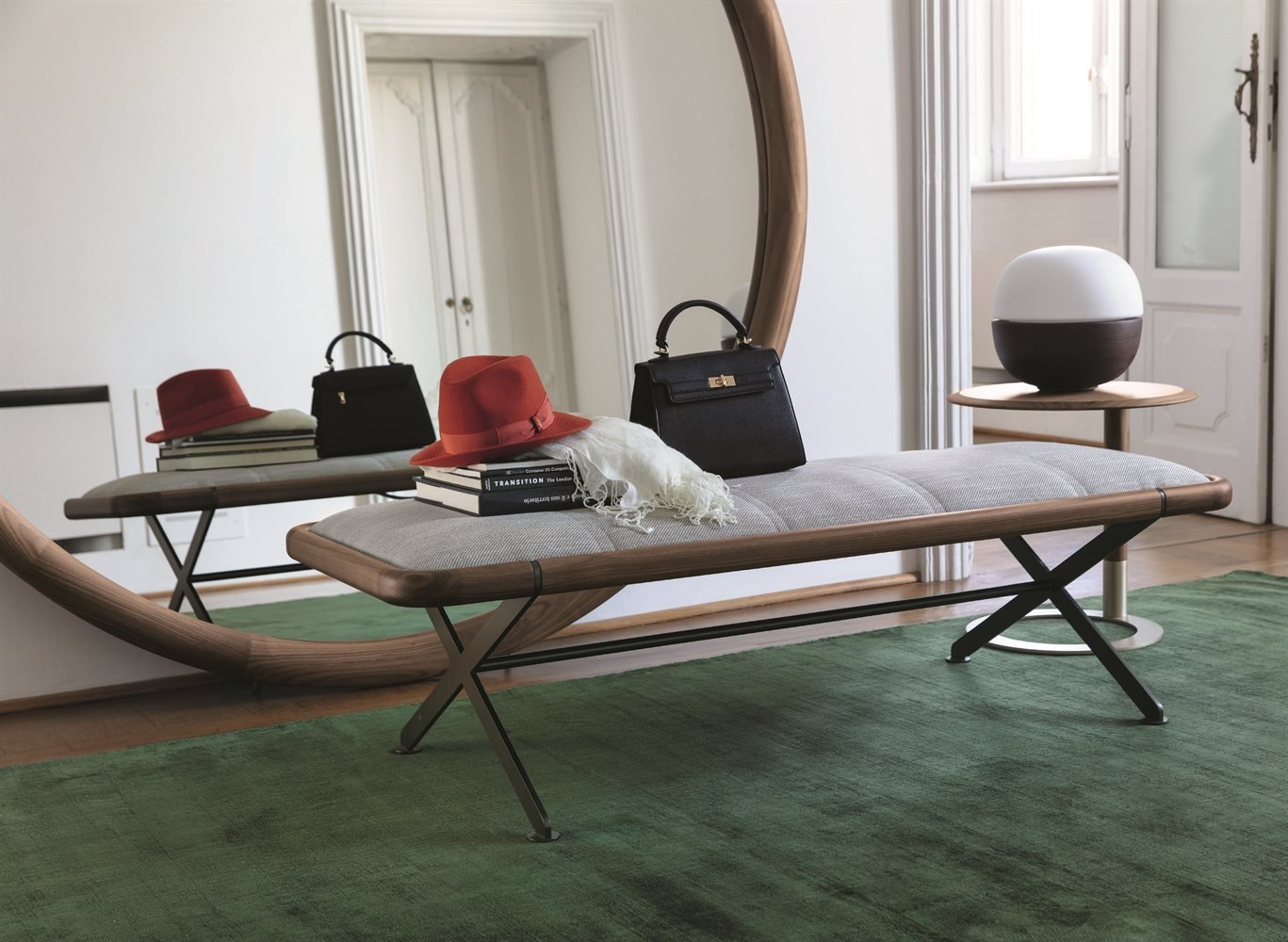 Axxia Bench from Porada, designed by T. Colzani