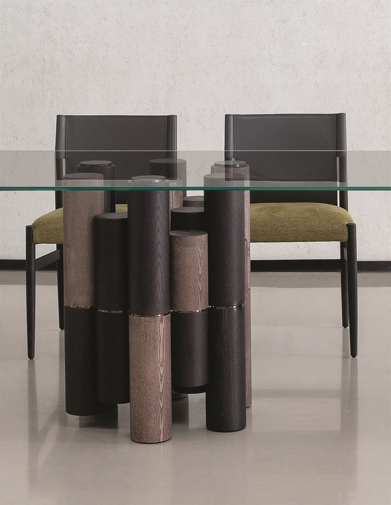 Pilar Dining Table from Porada, designed by M. Marconato and T. Zappa