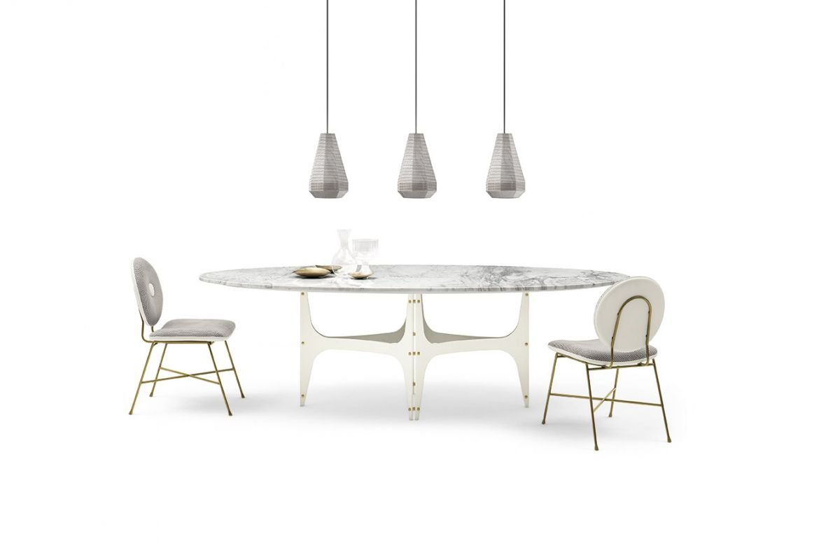 Universe Table dining from Bontempi, designed by  R&D Bontempi Casa