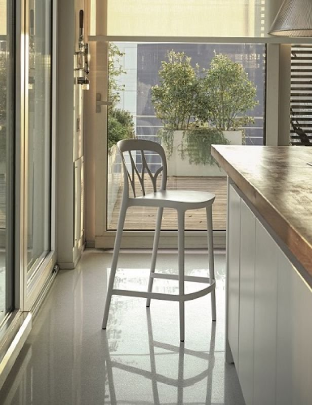 Galaxy Barstool from Bontempi, designed by  R&D Bontempi Casa