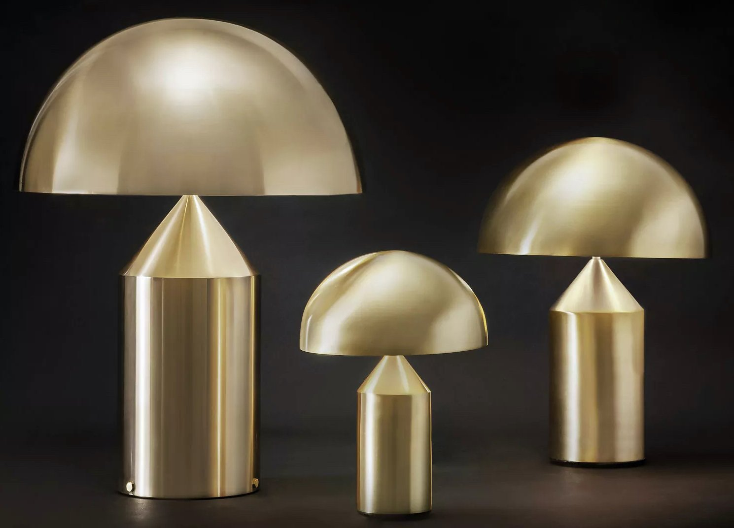 Atollo Metal Table Lamp lighting from Oluce, designed by Vico Magistretti