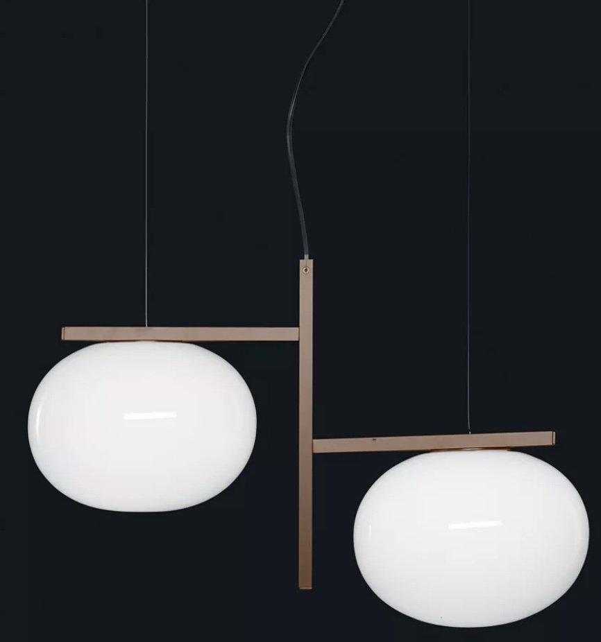 Alba Suspension Lamp lighting from Oluce, designed by Mariana Pellegrino Soto