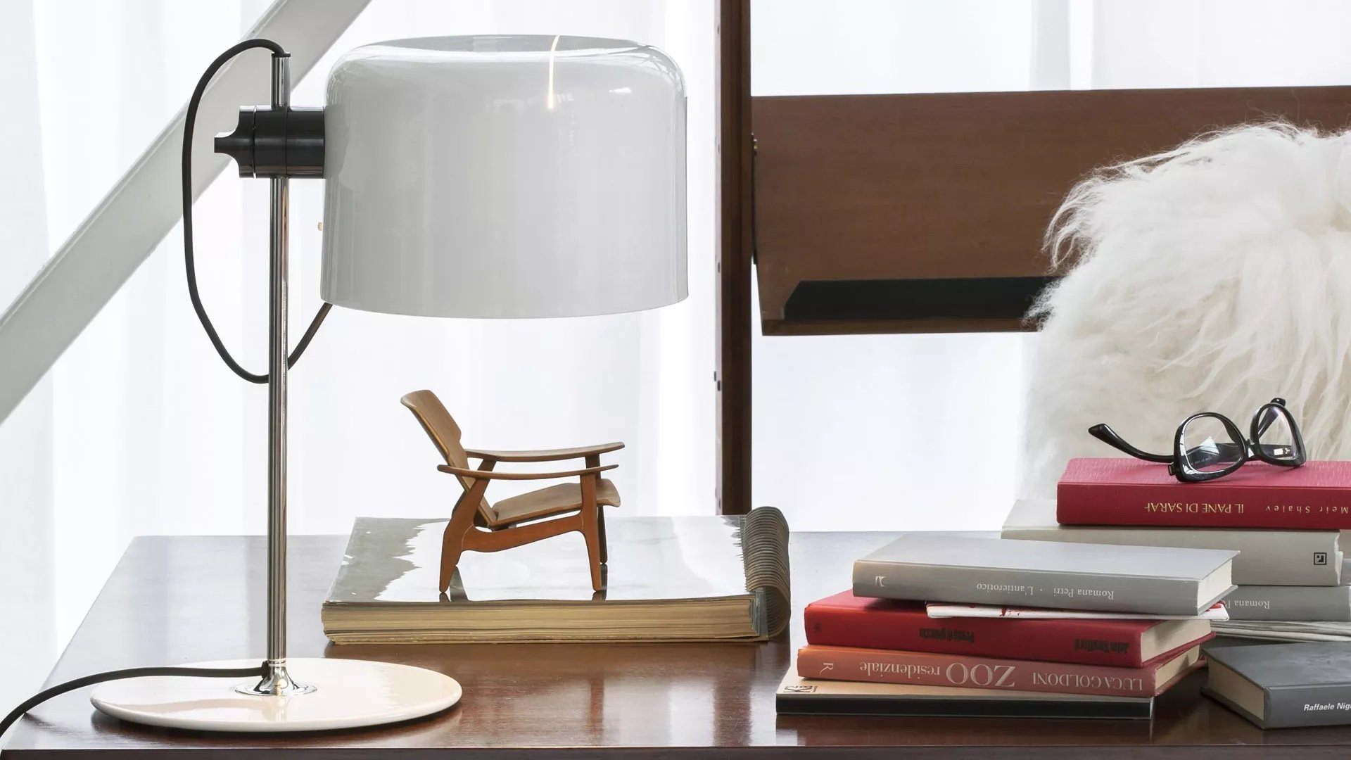 Coupe Table Lamp lighting from Oluce, designed by Joe Colombo