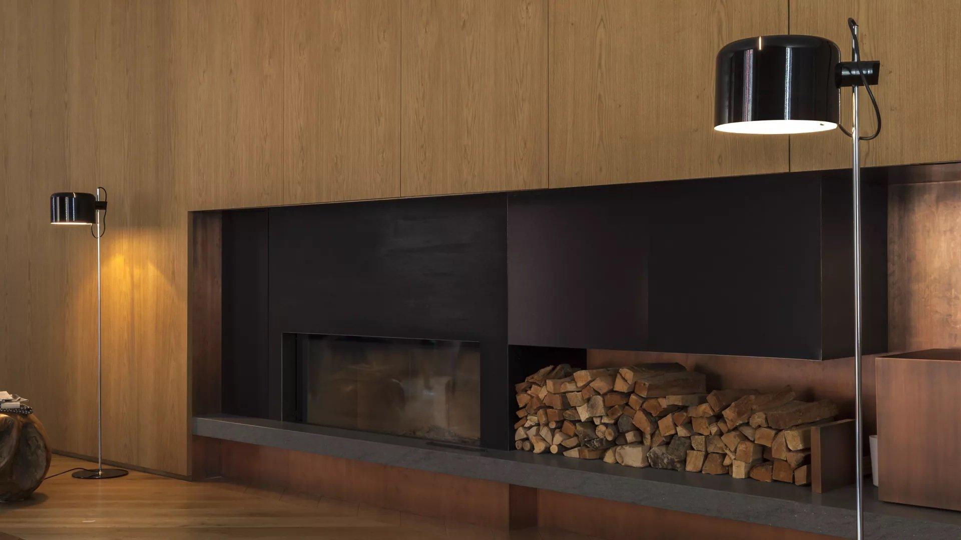Coupe Floor Lamp lighting from Oluce, designed by Joe Colombo