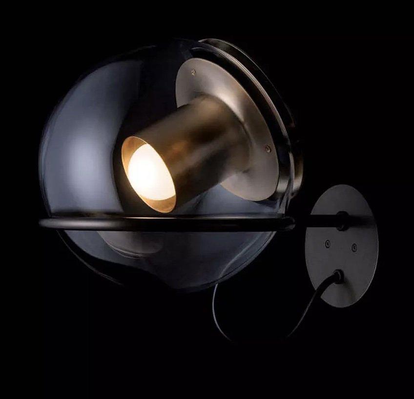 The Globe Wall Lamp lighting from Oluce, designed by Joe Colombo