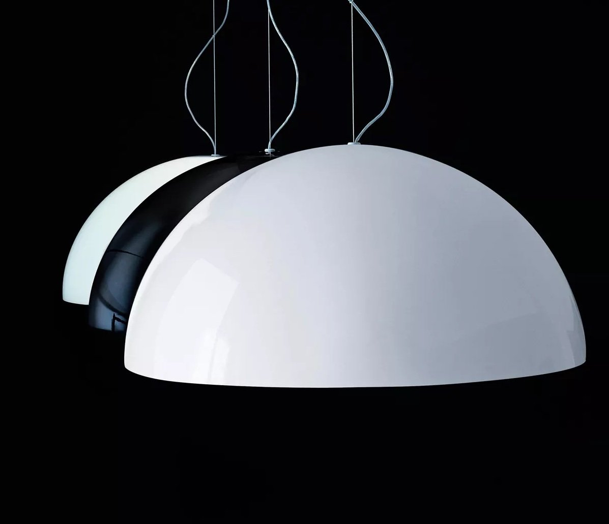 Sonora Suspension Lamp lighting from Oluce, designed by Vico Magistretti
