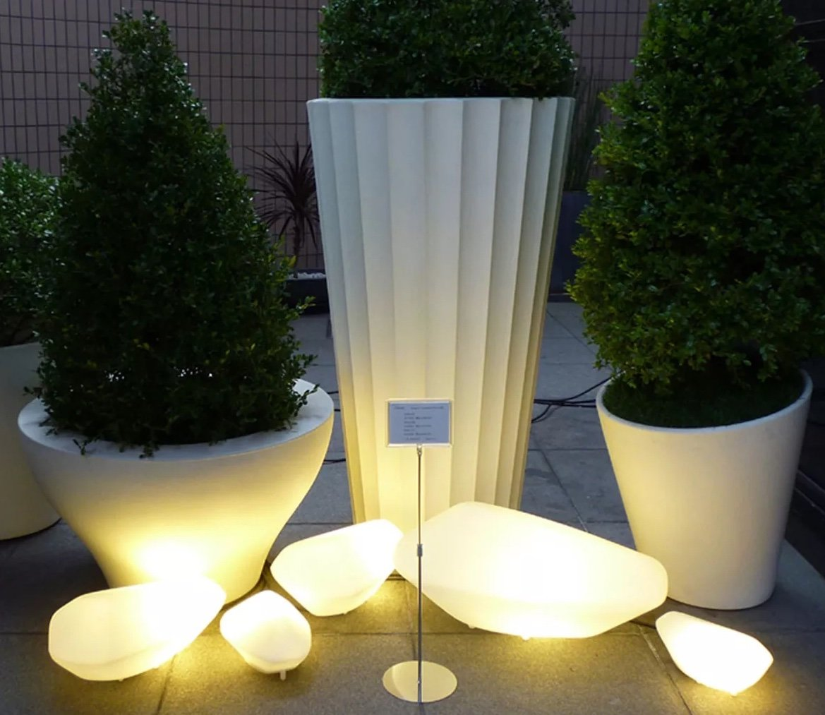 Stones Outdoor Lamp lighting from Oluce, designed by Marta Laudani and Marco Romanelli