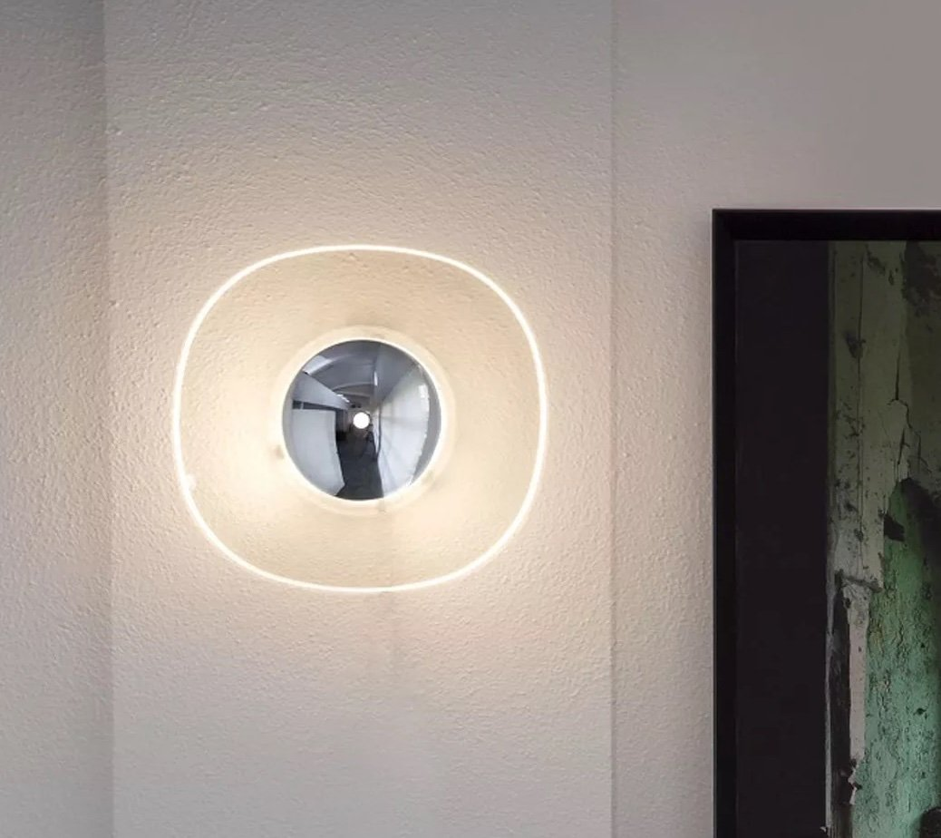 Yolk Wall Lamp lighting from Oluce, designed by Angeletti Ruzza Design