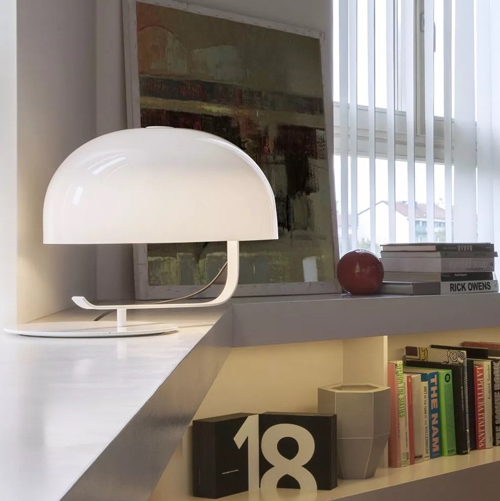 Zanuso Table Lamp lighting from Oluce, designed by Marco Zanuso