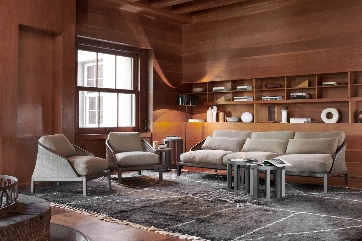 Grace Lounge Armchair from Potocco, designed by Mauro Lipparini
